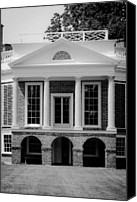 Octagonal Canvas Prints - Poplar Forest South Portico BW Canvas Print by Teresa Mucha