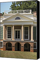 Octagonal Canvas Prints - Poplar Forest South Portico Canvas Print by Teresa Mucha