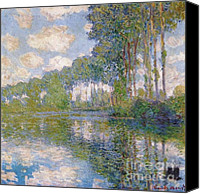 Impressionistic Art Canvas Prints - Poplars on the Epte Canvas Print by Extrospection Art
