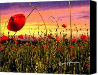 Poppies Canvas Prints - Poppies Canvas Print by Anthony Caruso