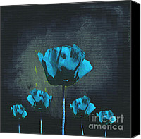 Five Canvas Prints - Poppies Fun 01 - Bb Canvas Print by Variance Collections