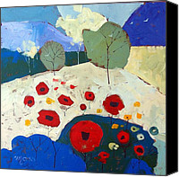 Mjonesart Canvas Prints - Poppies Canvas Print by Micheal Jones