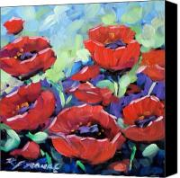 Prankearts Canvas Prints - Poppies Canvas Print by Richard T Pranke