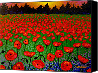 Giclee Trees Canvas Prints - Poppy Carpet  Canvas Print by John  Nolan