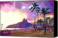 Palm Trees Canvas Prints - Por do Sol Canvas Print by Douglas Simonson