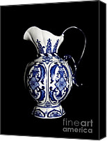 Blue And White Porcelain Canvas Prints - Porcelain 2 Canvas Print by Jose Luis Reyes