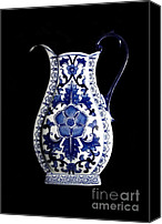 Blue And White Porcelain Canvas Prints - Porcelain1 Canvas Print by Jose Luis Reyes