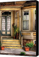 Old Houses Canvas Prints - Porch - House 109 Canvas Print by Mike Savad
