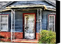 Old Houses Canvas Prints - Porch of S Canvas Print by Emily Stauring