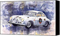 Auto Canvas Prints - Porsche 356 Speedster Canvas Print by Yuriy  Shevchuk