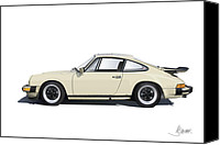 Porsche 911 Canvas Prints - Porsche 911 Carrera Canvas Print by Alain Jamar