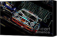 Track Racing Canvas Prints - Porsche 911 Racing Canvas Print by Sebastian Musial