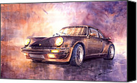 Classic Cars Canvas Prints - Porsche 911 Turbo 1979 Canvas Print by Yuriy  Shevchuk