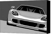 Silver Canvas Prints - Porsche Carrera GT Canvas Print by Michael Tompsett