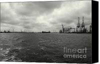 Industrial Ship Canvas Prints - Port-Industrial 2 - Port Landscape Canvas Print by Dean Harte