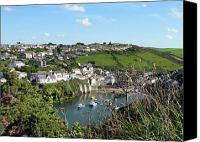 Isaac Canvas Prints - Port Isaac 1 Canvas Print by Kurt Van Wagner