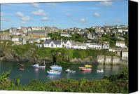 Isaac Canvas Prints - Port Isaac 2 Canvas Print by Kurt Van Wagner