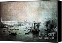 Ocean Digital Art Canvas Prints - Port of London - Circa 1840 Canvas Print by Lianne Schneider