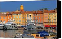 Cabin Canvas Prints - Port of Saint-Tropez in France Canvas Print by Giancarlo Liguori