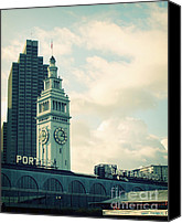 Tourism Mixed Media Canvas Prints - Port of San Francisco Canvas Print by Linda Woods