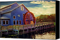 Mickey Canvas Prints - Port Orleans Riverside Canvas Print by Lourry Legarde