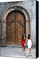 Portal Canvas Prints - Portal of the Iglesia de Nuestra Senora de la Pena de Francia Canvas Print by Fabrizio Troiani