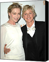 Awards Canvas Prints - Portia Di Rossi, Ellen Degeneres Canvas Print by Everett