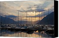 Morning Sun Canvas Prints - Porto Patriziale Ascona Canvas Print by Joana Kruse