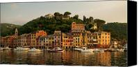 Houses Canvas Prints - Portofino bay Canvas Print by Neil Buchan-Grant