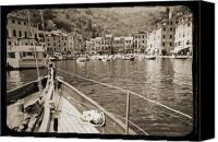 White Seagull Canvas Prints - Portofino Italy from Solway Maid Canvas Print by Dustin K Ryan