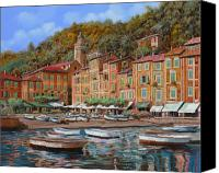 Hills Canvas Prints - Portofino-La Piazzetta e le barche Canvas Print by Guido Borelli
