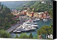 Village Canvas Prints - Portofino Canvas Print by Marilyn Dunlap