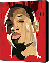 All Star Digital Art Canvas Prints - Portrait - Dwyane Wade Canvas Print by Kevin Kocses