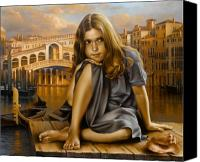 Venice Canvas Prints - Portrait Canvas Print by Arthur Braginsky