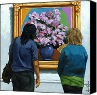 Linda Apple Canvas Prints - Portrait Figurative - Lilacs Canvas Print by Linda Apple