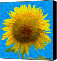Sunflowers Canvas Prints - Portrait of a Sunflower Canvas Print by Jeff Kolker