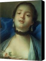 Choker Canvas Prints - Portrait of a Woman  Canvas Print by Francois Boucher