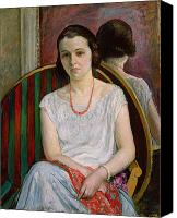 Later Canvas Prints - Portrait of a Woman Canvas Print by Henri Lebasque