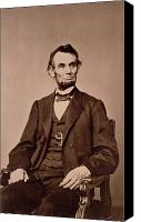Abraham Lincoln Photo Canvas Prints - Portrait of Abraham Lincoln Canvas Print by Mathew Brady