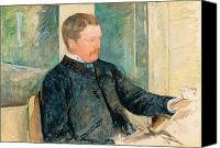 Sat Canvas Prints - Portrait of Alexander J. Cassatt Canvas Print by Mary Stevenson Cassatt