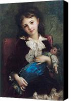 Dolls Canvas Prints - Portrait of Catherine du Bouchage Canvas Print by Antoine Auguste Ernest Hebert