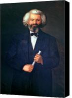 Abolitionist Canvas Prints - Portrait of Frederick Douglass Canvas Print by American School