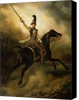 Military Uniform Painting Canvas Prints - Portrait of Friedrich Heinrich Canvas Print by Emile Jean Horace Vernet