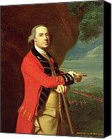 Military Uniform Painting Canvas Prints - Portrait of General Thomas Gage Canvas Print by John Singleton Copley