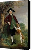 Manor Painting Canvas Prints - Portrait of George Venables Vernon Canvas Print by Thomas Gainsborough