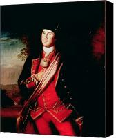 Politician Canvas Prints - Portrait of George Washington Canvas Print by Charles Willson Peale