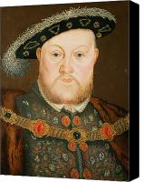 British Royalty Canvas Prints - Portrait of Henry VIII Canvas Print by English School