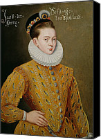Cap Painting Canvas Prints - Portrait of James I of England and James VI of Scotland  Canvas Print by Adrian Vanson