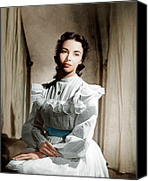 1940s Portraits Canvas Prints - Portrait Of Jennie, Jennifer Jones, 1948 Canvas Print by Everett