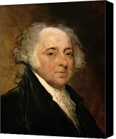 Politician Canvas Prints - Portrait of John Adams Canvas Print by Gilbert Stuart